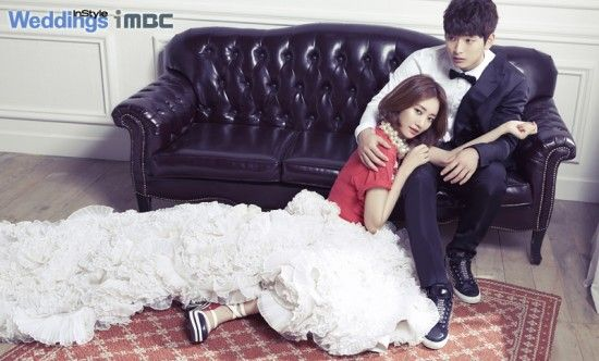 'We Got Married' couples compete for the 'main spread' of pictorial magazine ~ Jinwoon and Go Jun Hee