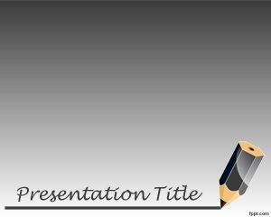 La plantilla PowerPoint con lápiz es un diseño para PowerPoint gratis que puede descargar como plantilla o tema educativo para presentaciones en la clase pero también para temas de educación escolar