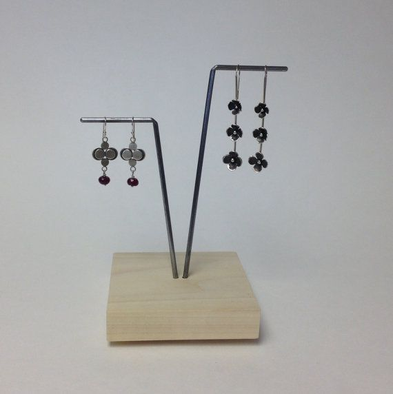 V Earring display earring stand craft show display by UniqDisplay
