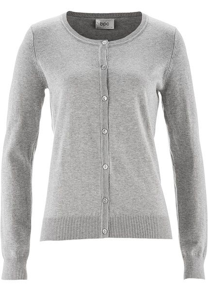 Sweter rozpinany szary 36/38 S/M 935182 bonprix