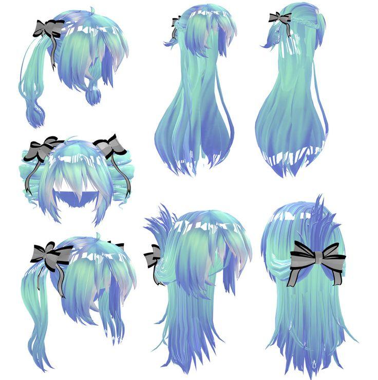 Download Hair: ปักพินในบอร์ด MMD DL