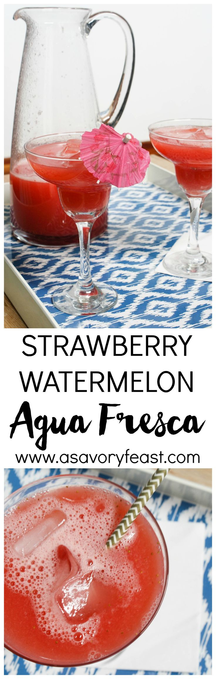 ... Strawberry Watermelon Agua Fresca is a delicious drink for all ages