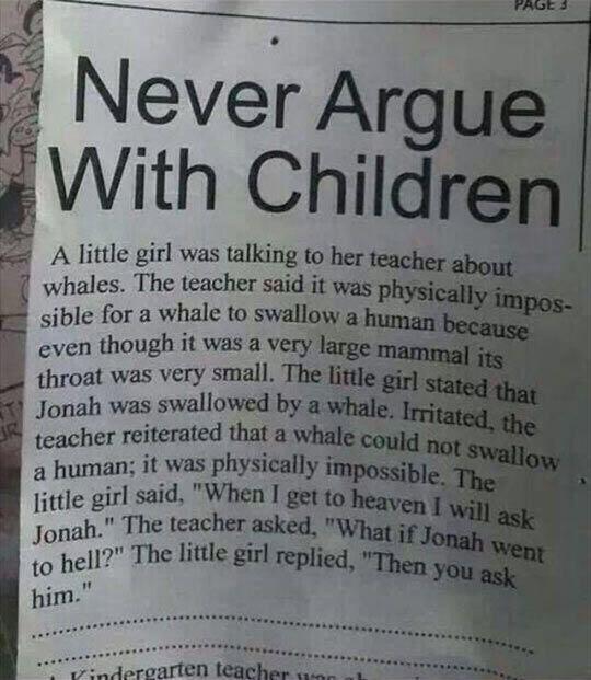 Children Are Sharp Nowadays