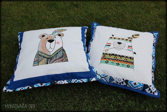 Montownia Ody: Poduszki z motywem indiańskim