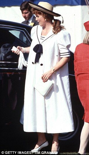 Sarah Ferguson at polo during her pregnancy in 1988