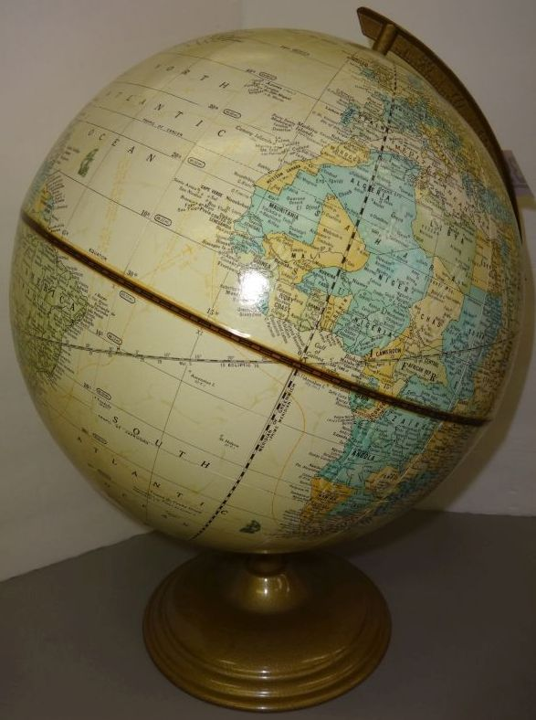 Vintage Cram S Imperial World Globe On Metal Base 16 Quot H X