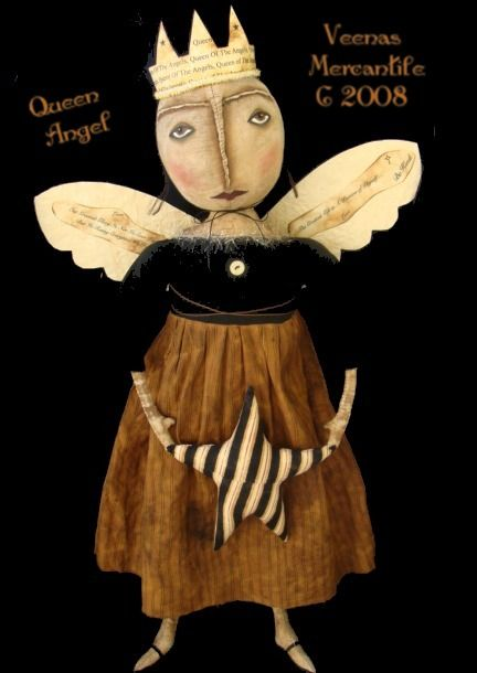 """Image detail for -New """" Folk Art Queen Of The Angels ©2011. Queen Angel Is about 30 ..."""