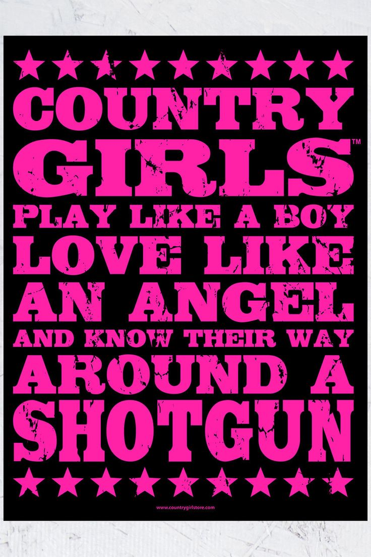"Country Girl Store - Country Girls™ Shotgun 18"" x 24"" Poster, $9.95 (http://www.countrygirlstore.com/gifts-accessories/posters/country-girls-shotgun-18-x-24-poster)"