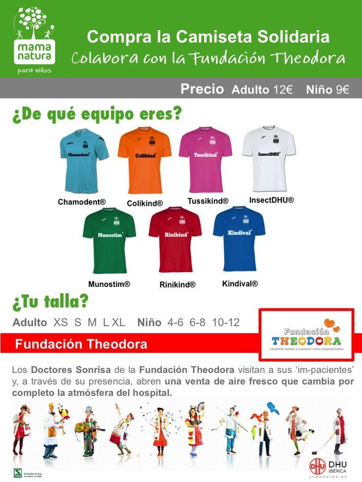 Venta de camisetas Solidarias Mama Natura en benefico de la Fundación Theodora