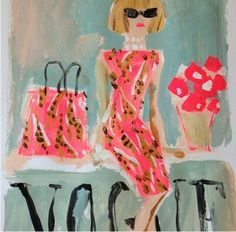 Fashion art by Donald Robertson *Dressed  So iconic, you can tell who the are from a few brush strokes. #Wintour #Lagerfeld #Coddington  Cheeky Glamour