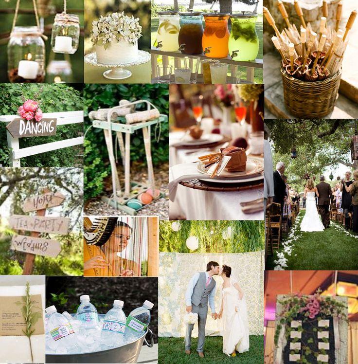 a couple of ideas for a backyard wedding