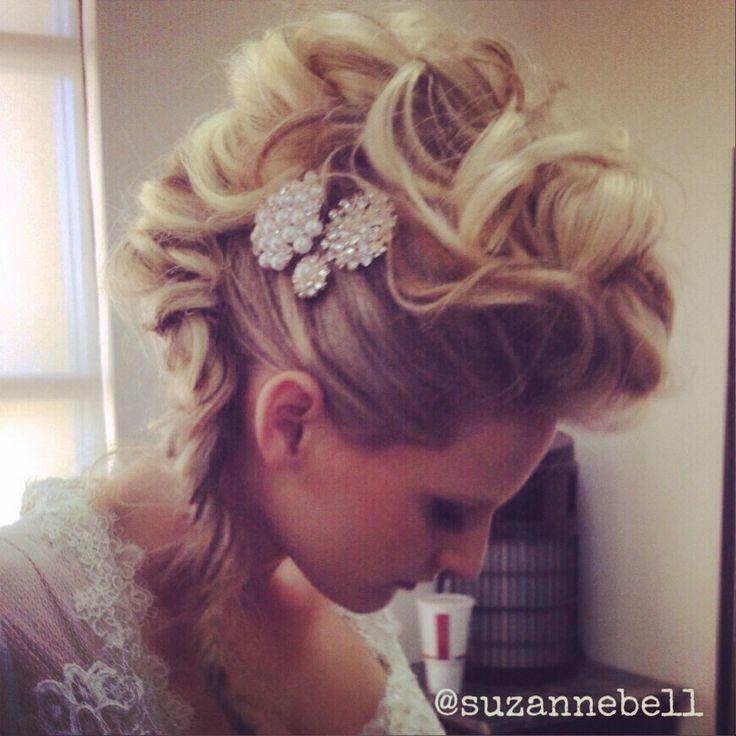 mohawk updo/ wedding/ prom