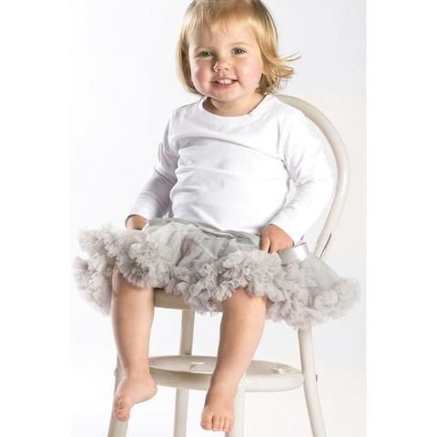Baby Petticoat Tutu Skirt - Grey. Christmas outfit. Newborn Photography. Birthday outfit. Princess. Special Occassion