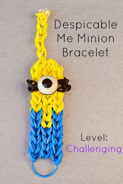rainbow loom bracelits        instructions | Despicable Me Rainbow Loom Bracelet