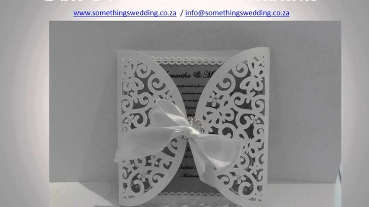 Gate Fold Wedding Invitations - Somethings Wedding