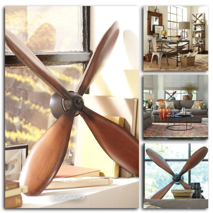 Vintage Plane Propeller Wall Hanging Art Home Decor Airplane Pilot Room Rotor…