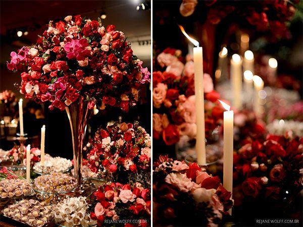 Rosa e vermelho