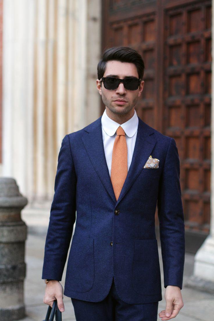 Cartier sunglasses – Audemars Piguet Millenary 4101 watch – Louis Vuitton Porte document voyage – Suitsupply suit – Tangerine shoes