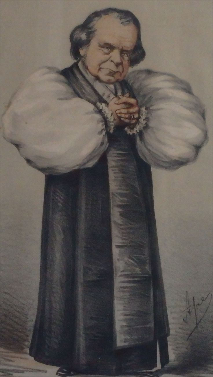 Samuel Wilberforce, whose caricature appeared in Vanity Fair magazine in 1869, with the caption 'not a brawler'.