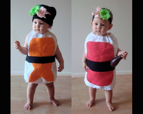 Sushi costumes----who has a little enough Munchkin to pull this off?!?!? Too too cute!!