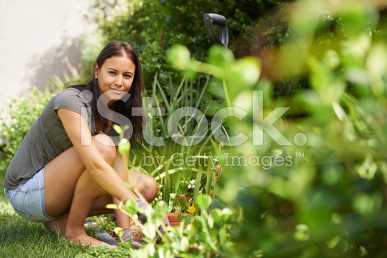 I feel at peace in the garden royalty-free stock photo