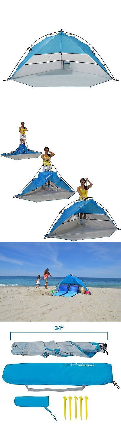 Canopies and Shelters 179011: Lightspeed Outdoors Mini Pop Up Beach Tent Sun Shade, Blue -> BUY IT NOW ONLY: $47.07 on eBay!