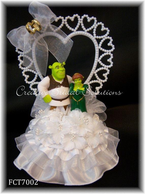 Shrek and Fiona Wedding Cake Topper | Shrek, Wedding and ...