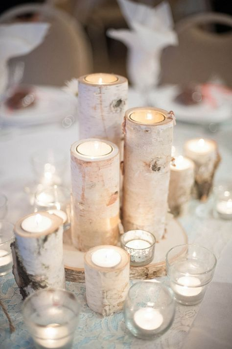 Birch candleholders // Dani White Photography