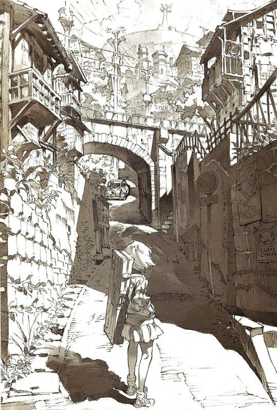 Ryuko by Kill la Kill animator and set designer You Yoshinari, featured in the KlK Starter Book.