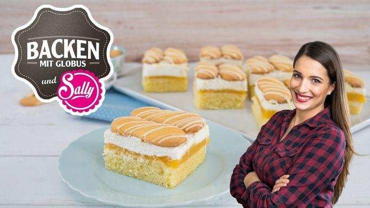 NEU: Aprikosen-Vanillecreme-Schnitte | Backen mit Globus & Sallys Welt #30 – #Ap…