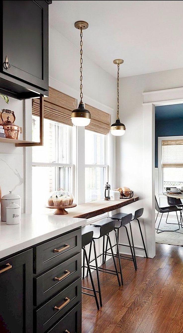 Kitchendesign kitchenideas barstools paintedcabinets