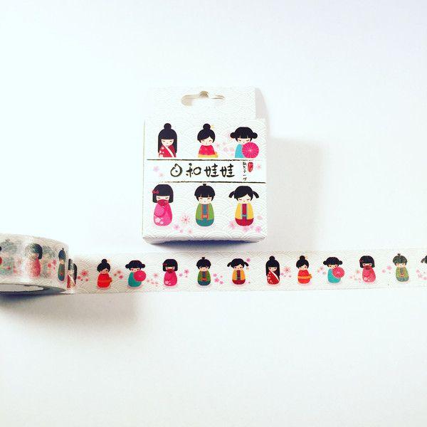 Masking Tape - 1m Washi-Tape Sample Chinesische Frauen  - ein Designerstück von Kreaderia bei DaWanda