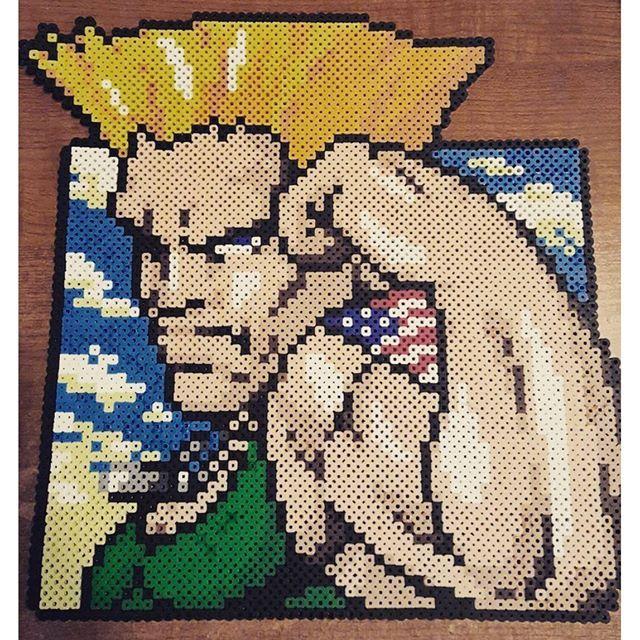 Guile - Street Fighter perler beads by laydeetea