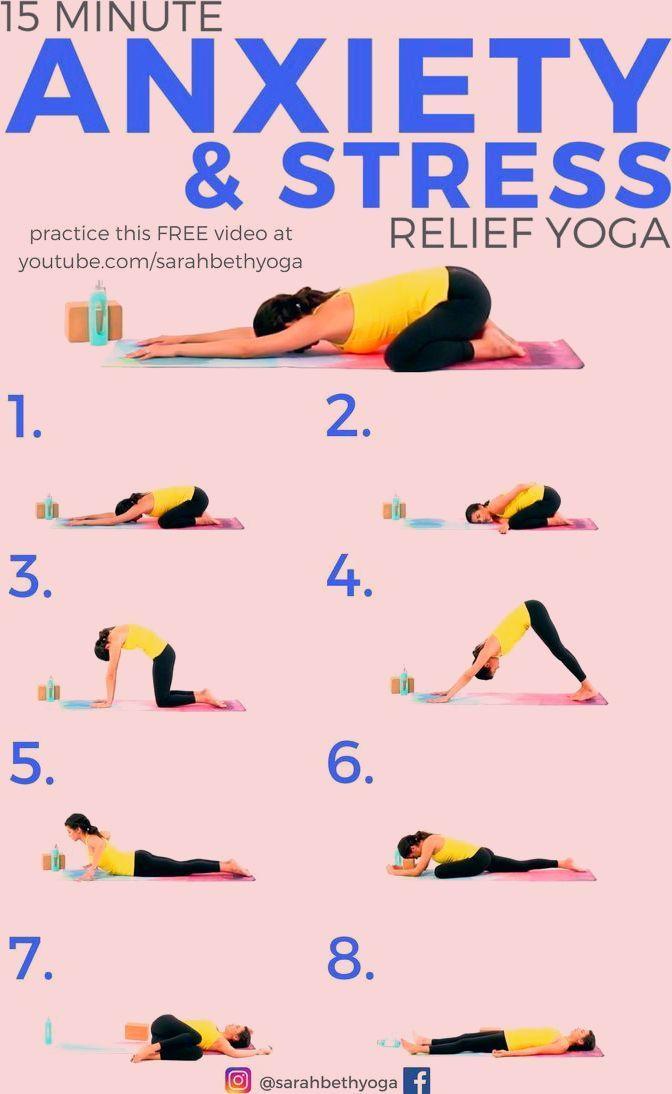 15 Minuten Yoga Fur Angst Stressabbau Klicken Sie Sich Durch Fur Das Kostenlose Youtube Angst Durc Easy Yoga Workouts Relaxing Yoga Recovery Workout