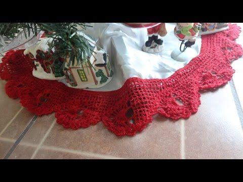 PUNTILLA PIE DE PINO piñas a crochet paso a paso - YouTube