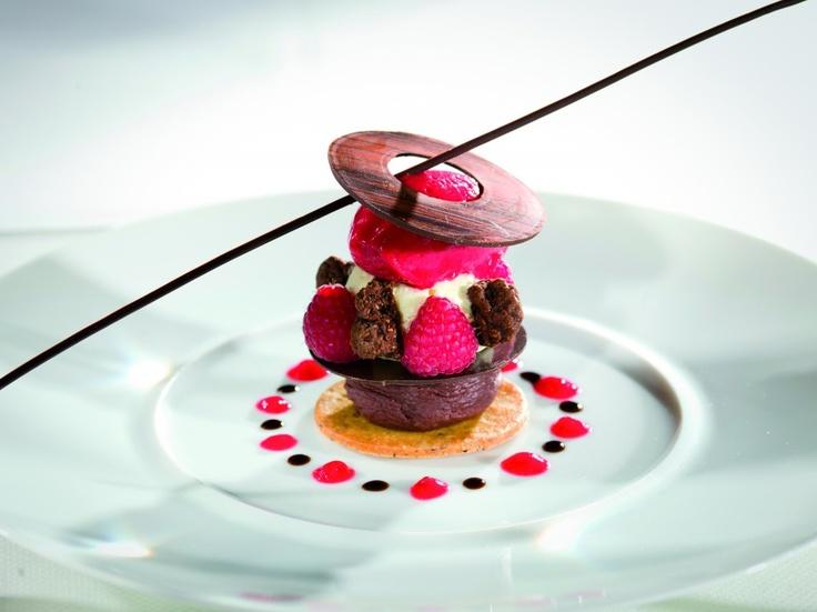 a gastronomie chefs toil s chefs 1 toile sabl framboise ganache chocolat jus de. Black Bedroom Furniture Sets. Home Design Ideas