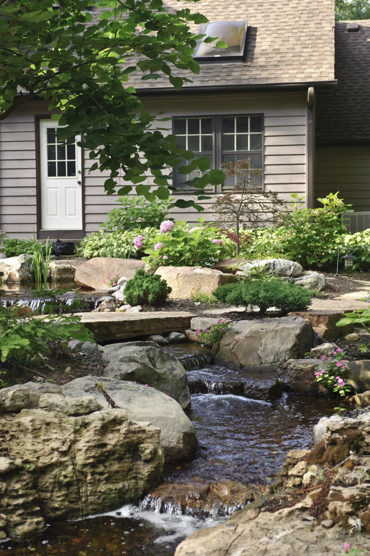 17 best images about ponds and water features on pinterest for Pond stream design