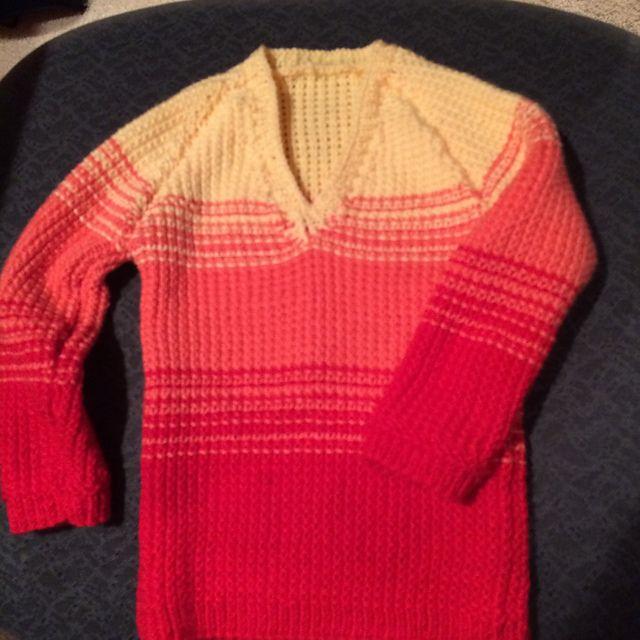 Kay's Little Dreamer Pullover Pattern is Little Dreamer Pullover by Universal Yarn. Yarn is Little Bird.