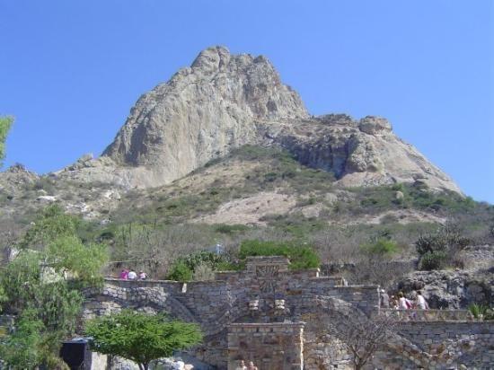La Pena de Bernal!  This is about an hour outside of Queretaro.  It is a single rock (monolith)