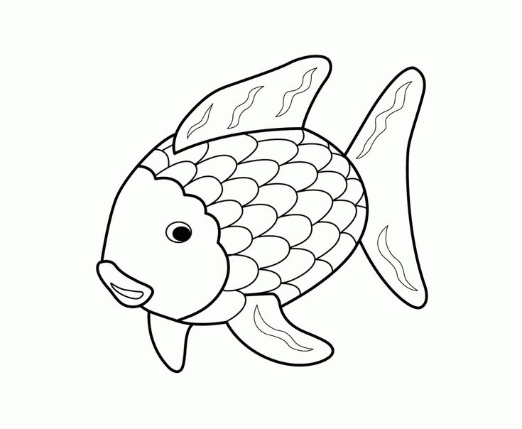Printable 17 Rainbow Fish Coloring Pages 5144 Rainbow
