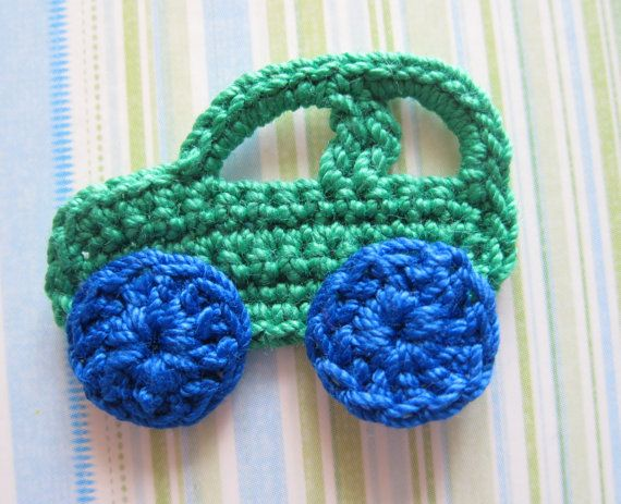 Crochet Car Appliques by GoldenLucyCrafts on Etsy