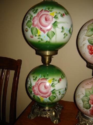 Antique Lamp Gone With The Wind Hurricane Lamp