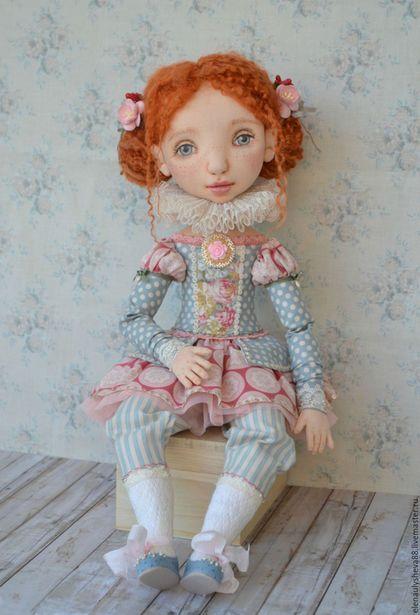 Коллекционные куклы ручной работы. Заказать Шарлотта авторская текстильная кукла. Елена Уляшёва. Ярмарка Мастеров. Рыжая девочка, трикотаж
