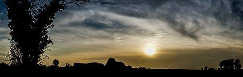 sunset on a warm autumn day
