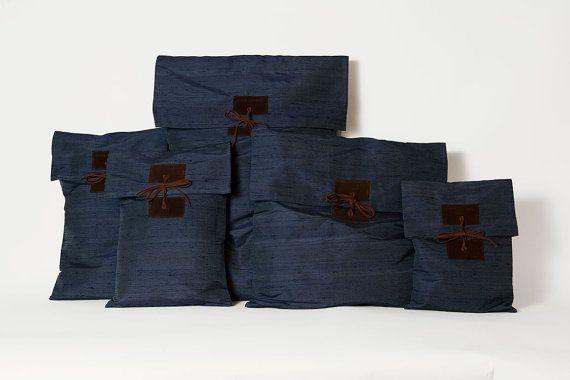 Storage pouches    Blue color  Spring colors  by ElenaVandelliBags