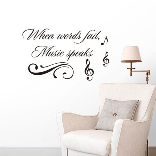 Wall-Sticker-When-words-fail-music-speaks-Vinyl-decals-quotes-sayings-word-decor