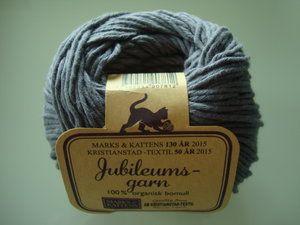 Marks & Kattens Jubileumsgarn 100% organisk bomull grå nr 102