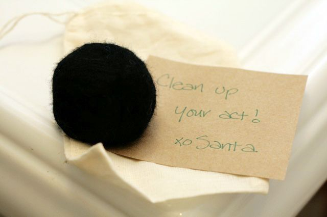 Felted Coal Soap  by Ashley Weeks Cart. Just the thing for the toe of a Christmas stocking.