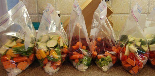 Saviez vous qu'on peut conserver es légumes coupés en dé au congélateur ? l