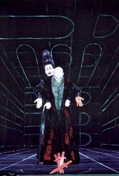 Salvatore Sciarrino, Macbeth (U.S. Premiere), Oper Frankfurt, Ensemble Modern, John Jay College Theater, New York, NY, July 9, 2003 (BH)    Salvatore Sciarrino: Composer and Librettist  Achim Freyer: Director and Set Designer
